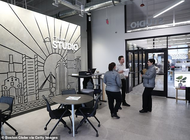 One Staples store has seen 50 percent of its floor space converted into coworking and professional services areas