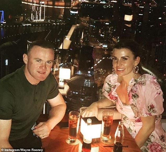 Sighting: Coleen was spotted on a rare outing with husband Wayne on Monday as they headed out to pick up some breakfast (pictured on Instagram last week)
