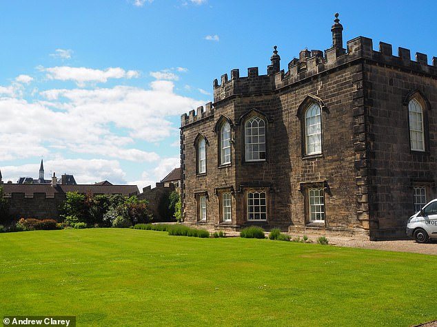 Part of Auckland Castle, the remains of the long lost place of worship — Bek's Chapel — were uncovered with the help of staff and students from Durham University. Pictured, the location of the dig site at Auckland Castle, before excavations took place