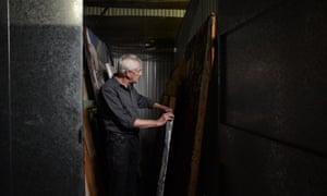 Looby at his storage warehouse.