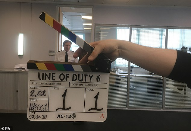 Back in business:Line Of Duty creator and scribe Jed has shared the very first images from behind-the-scenes of the upcoming sixth season of the hugely-popular cop drama
