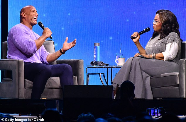 Special guest!During Oprah's 2020 Vision TourDwayne joined the television host to talk about the death of his father, and even surprised Oprah with some tequila