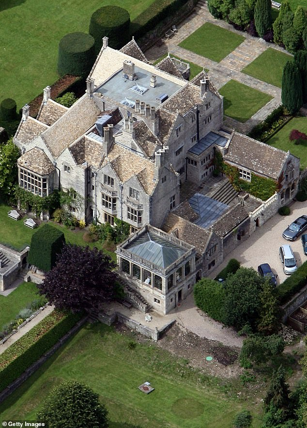 Lord of the manor:On the show - which sees celebrities invite cameras into their lavish homes to show off the fruits of their labour - Robbie acted as if he owned the property - St Catherine's Court in Bath [pictured in 2007]