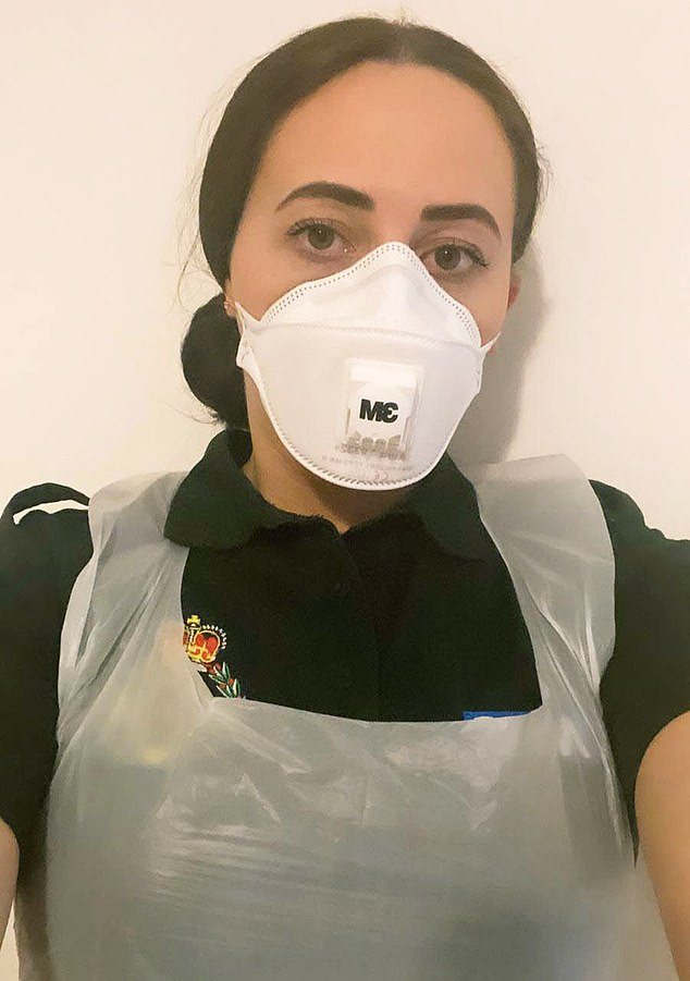 She told how she is also finding it hard to keep her distance from 'panic-stricken' patients being taken to hospital in the back of an ambulance