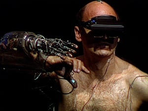 Stelarc, connecting himself to the internet.