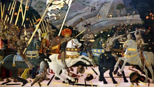 The Battle of San Romano by Paolo Uccello.