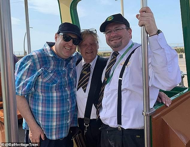 Rare sighting: In April 2019, Peter was seen on a tram in Blackpool. He was snapped grinning with the driver and conductor of the tram