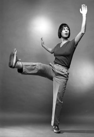Fresh moves … Yvonne Rainer with Trio A; her new work is called Passing and Jostling While Being Confined to a Small Apartment.