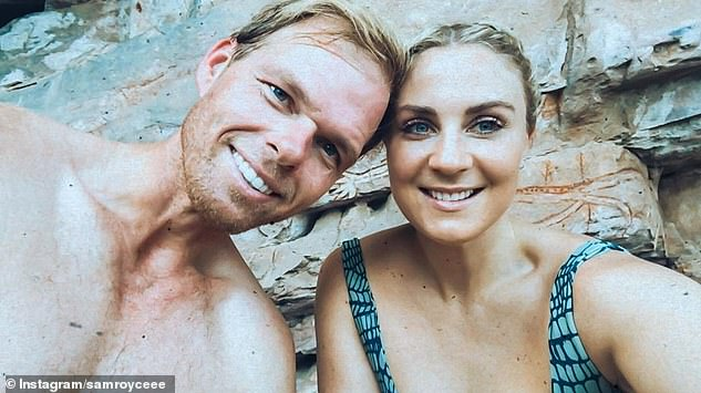 Famous couple: Bachelor star Sam is dating The Bachelorette's Jarrod Woodgate (pictured together)