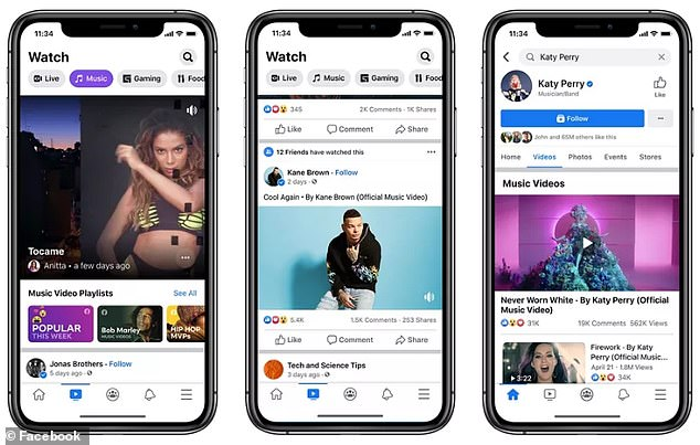 Facebook has challenged YouTube by adding licensed music videos to its social media platform.The clips will be added to Facebook Watch, as well as the artists' pages, allowing users to share, comment and react to