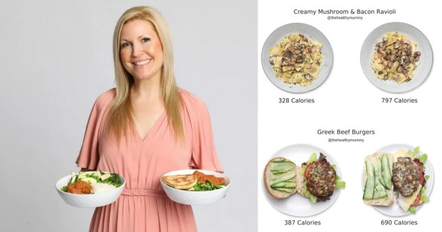 Rhian and some of the meals with swap
