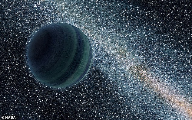 'Planet Nine', a celestial object up to 10 times larger than the Earth, may actually be a grapefruit sized black hole - and a new telescope could help detect it. Artists impression