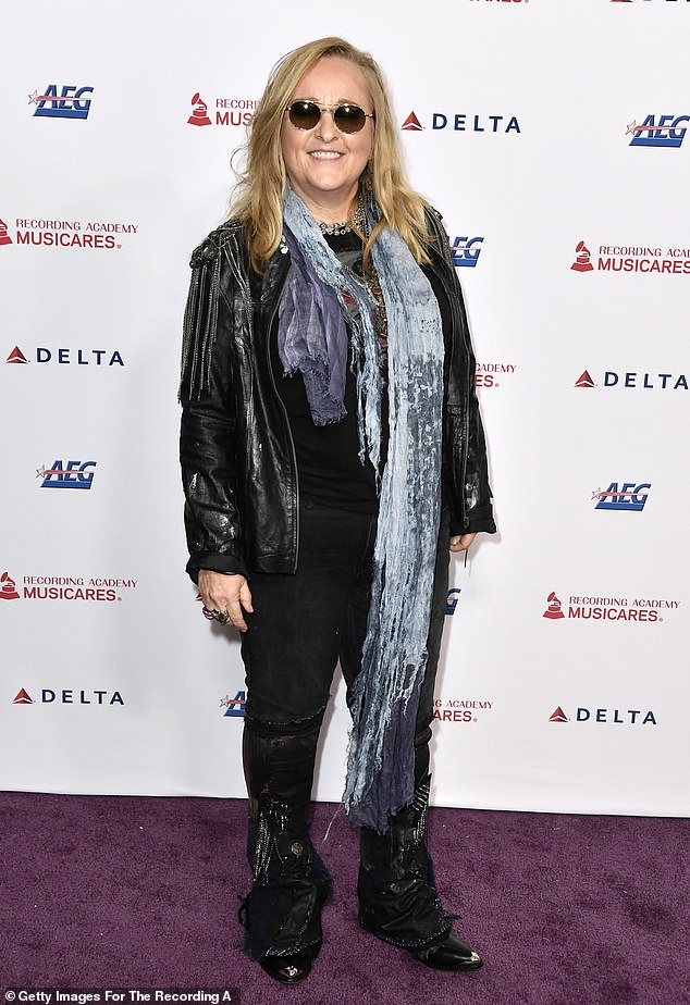 New venture: Melissa launched Etheridge TV after the pandemic started. It's a subscription service where fans can pay to see all of her at-home concerts and talk shows daily; pictured in January