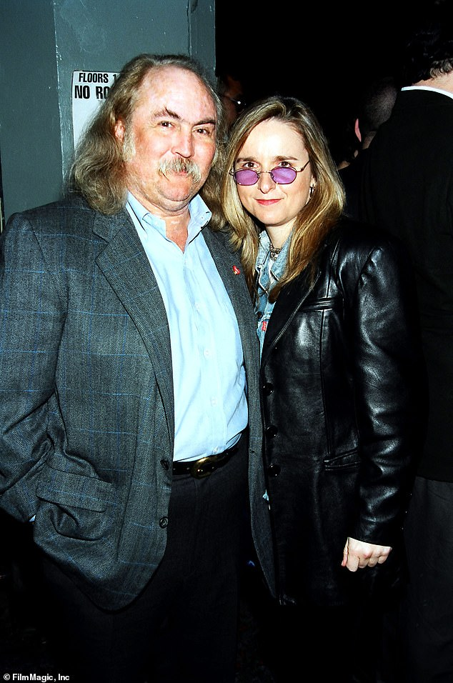 Untraditional family: Beckett was born in 1998 to Etheridge's then-partner Julie Cypher, who used donated sperm from legendary rocker David Crosby; pictured in 1995