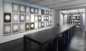 A view of Olafur Eliasson's show at the neugerriemschneider gallery.