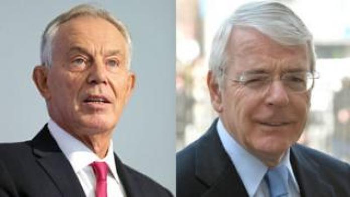 Tony Blair and John Major