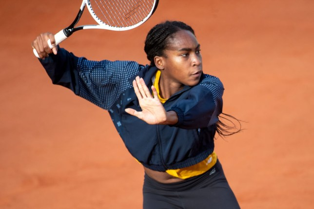Coco Gauff of the United States training on Court Suzanne Lenglen in preparation for   the 2020 French Open Tennis Tournament at Roland Garros on September 25th 2020 in Paris, France.