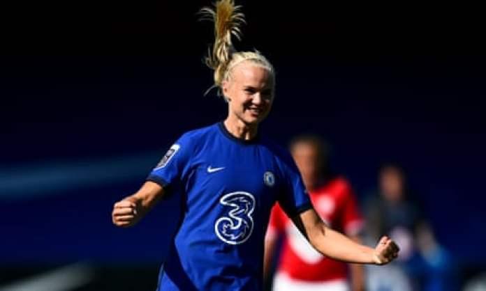Pernille Harder scored her first Chelsea goal against Bristol City.