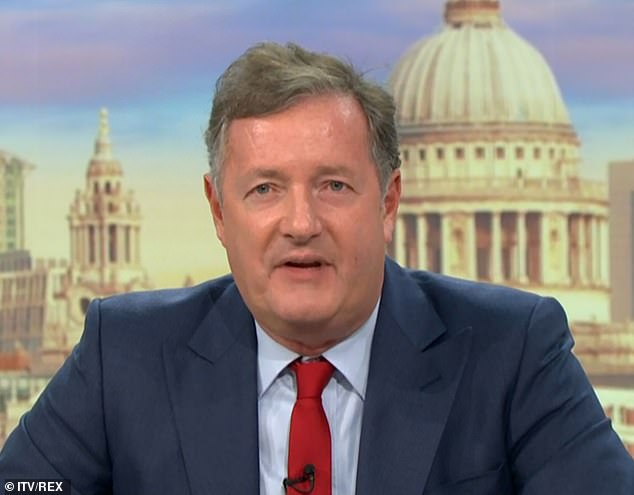 Defence: Piers Morgan furiously spoke out in Diversity's defence on Monday morning, amid the fallout over the dance troupe's Black Lives Matter routine on Britain's Got Talent