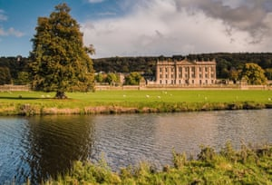 Chatsworth by the river Derbyshire England