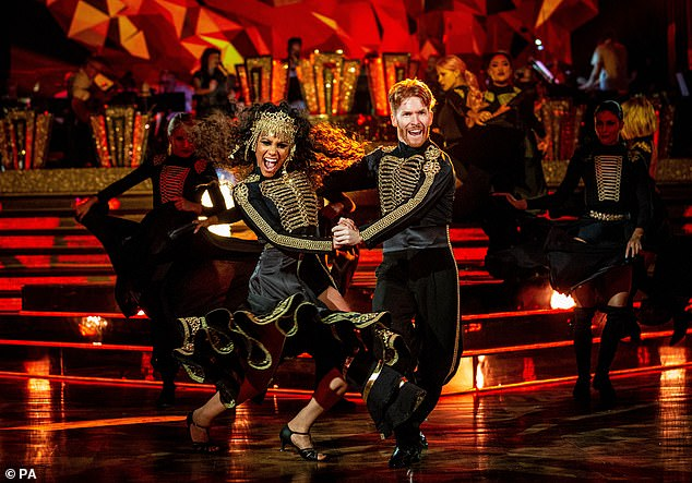 Sad news:Strictly Come Dancing have cancelled its annual Blackpool special due to the COVID-19 pandemic (Alex Scott and Neil Jones from 2019 pictured)_