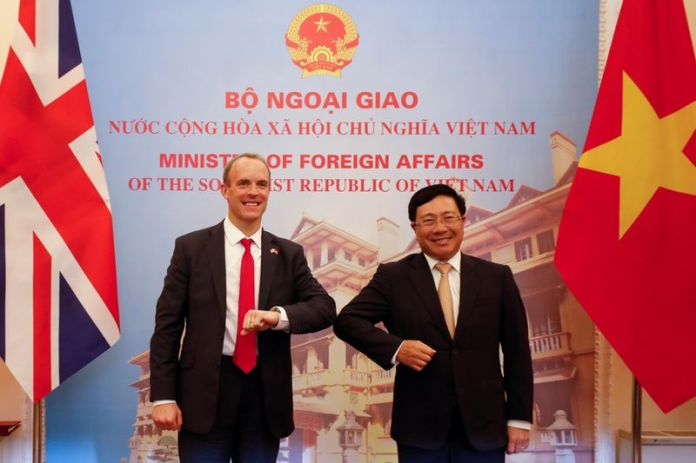 © Reuters. British Foreign Secretary Dominic Raab visits Vietnam