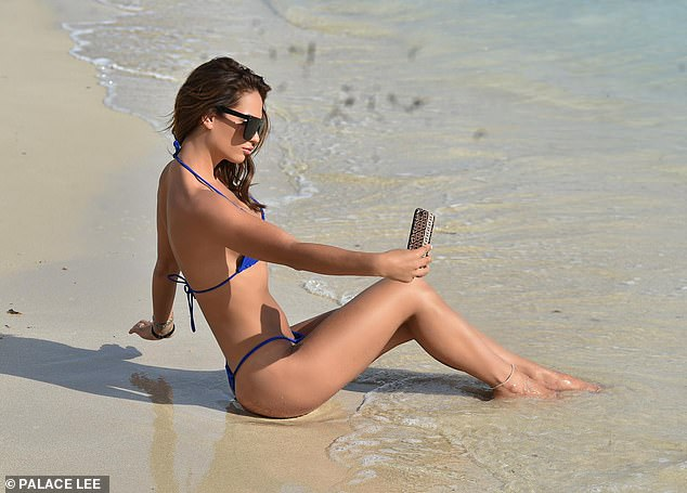 Say cheese! As ever the star ensured she documented her sunny break with an array of snaps and selfies