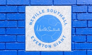 A plaque at Goodison Park in honour of Neville Southall