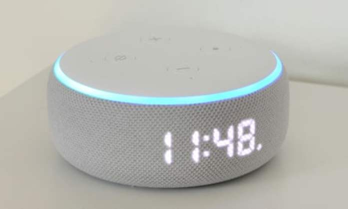 The Amazon Echo Dot with Clock.