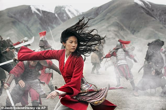 They expected more: Disney's live-action Mulan has been a disappointment after Chinese sales dropped a stunning 72 percent after viewers criticized it for being 'inauthentic'; still from Mulan