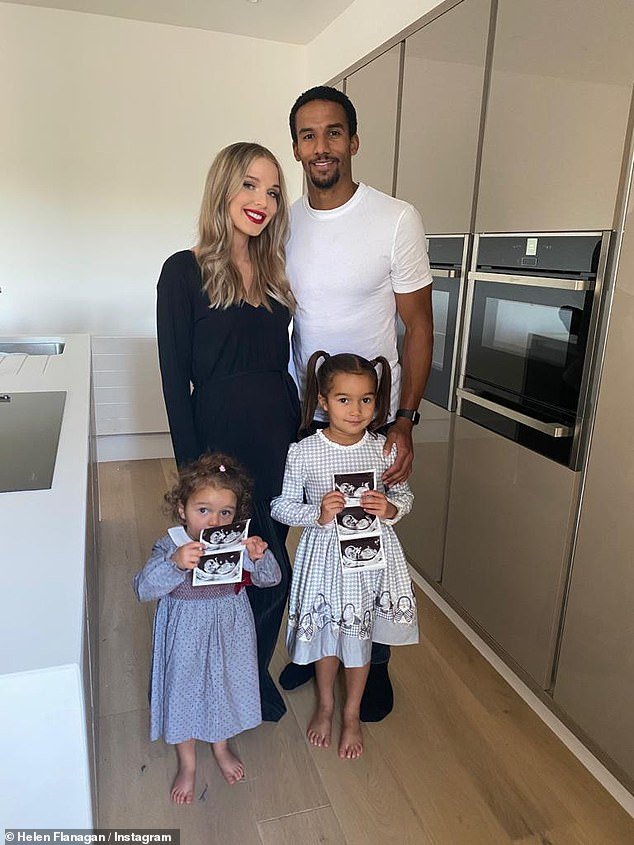Congrats!Helen announced she is pregnant with her third child, sharing sweet family photos with footballer fiancé Scott Sinclair and their daughters on Monday night