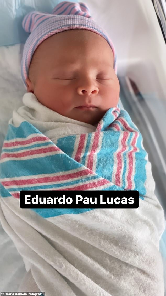 Another look at number five: This image of the sleeping baby had his name - Eduardo Pau Lucas - across the front