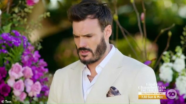 Decision: Standing at his final rose ceremony, cameras pan around him as he breaks down into tears while asking himself: 'How am I meant to do it? You don't break up with someone you love!'