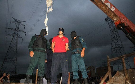 The chief method used by Iran is hanging. This is not done on a drop, where death comes quick after the neck is broken