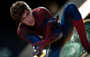 Andrew Garfield in a scene from The Amazing Spider-Man, 2012.