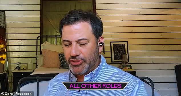 All other: Jimmy Kimmel played all of the other supporting roles in the virtual table read