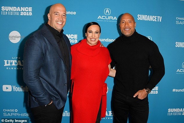 Safety first:Garcia, who is the brother of The Rock's ex wife Dany Garcia (pictured in 2019), added that the movie icon is following safety protocols on Red Notice