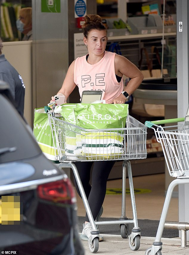 Healthy appetite: Coleen certainly has her hands full with fours sons and husband Wayne to feed