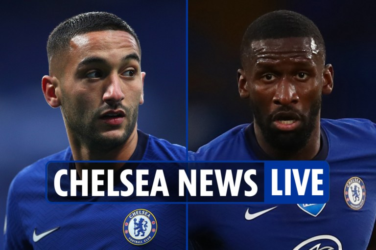 11.30am Chelsea news LIVE: Rudiger 'to return to squad', Ziyech fitness test, Rice subject of £120k-a-week 'offer'