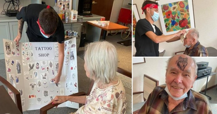 Care home opens temporary tattoo parlour for residents Pics: Trenton Village