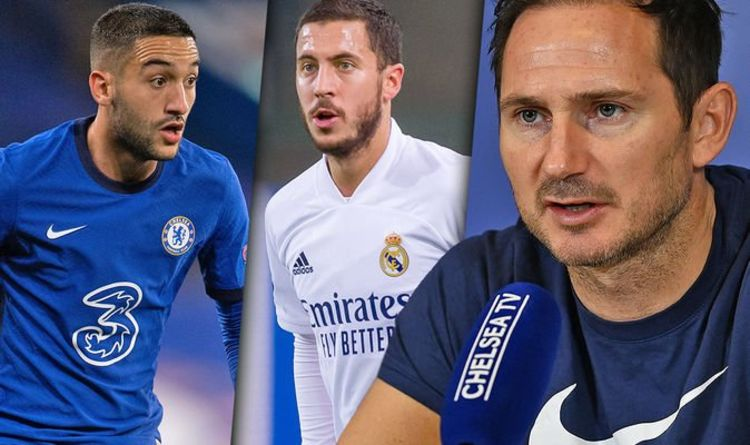 Chelsea boss Frank Lampard 'excited' about Hakim Ziyech as he makes Eden Hazard prediction