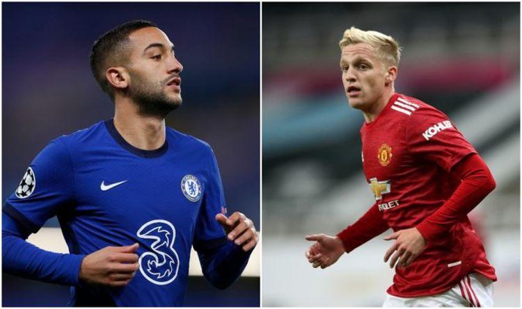 Chelsea star Hakim Ziyech lifts lid on talks with Man Utd ace Donny van de Beek