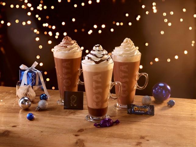 Costa Christmas drinks
