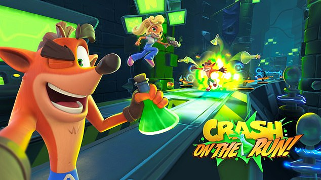 Crash Bandicoot: On the Run! is set to launch on mobile in Spring 2021. Fans can look forward to classic Crash gameplay for mobile, according to developers King. Pictured from left, Crash Bandicoot, his sister Coco Bandicoot and Fake Crash
