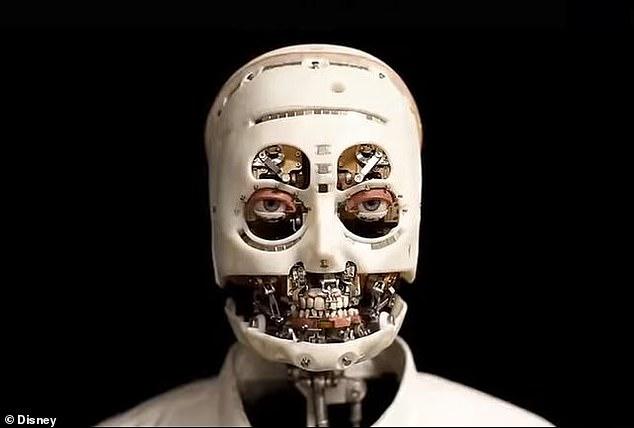 Disney imagineers reveal creepy skinless robot with realistic eyes and teeth