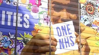 East London mural honours NHS workforce