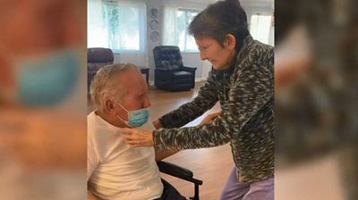 Elderly couple, married for 60 years, reunited after 215 days apart