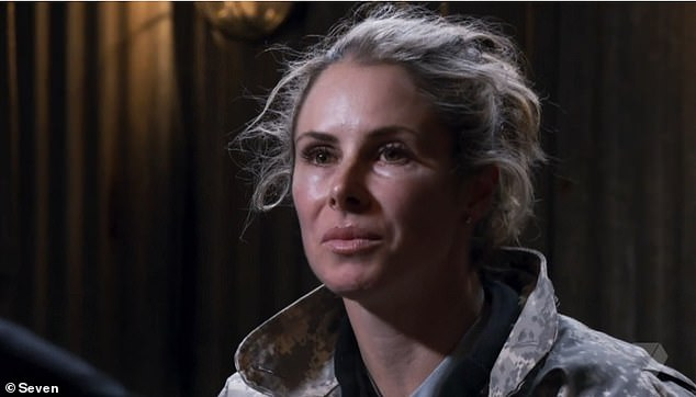 Not happy: Candice Warner (pictured) was was grilled about her 'toilet tryst' with Sonny Bill Williams on Monday's episode of SAS Australia - and she was left angered by the experience