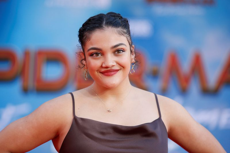 © Reuters. U.S. Olympic gymnast Laurie Hernandez poses at the World Premiere of Marvel Studios'