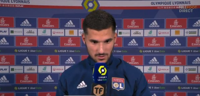 Houssem Aouar has confirmed his decision to stay at Lyon and reject Arsenal